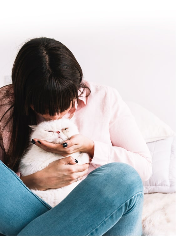 Kissing a dog